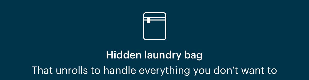 Hidden laundry bag